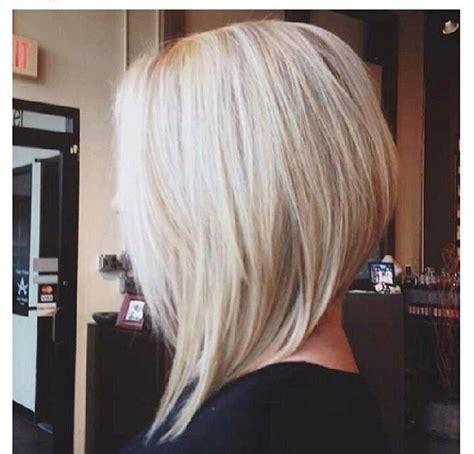 womans haircut back touches top of shoulders front is longer best 25 blonde angled bob ideas on pinterest long