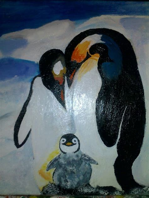 painting penguin image gallery penguin painting