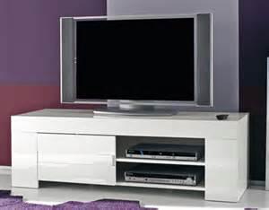 meuble tv messina laque blanc laque blanc l 140 x h 45 x p 50