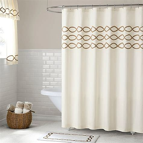 84 inch shower curtain buy linden 84 inch shower curtain from bed bath beyond