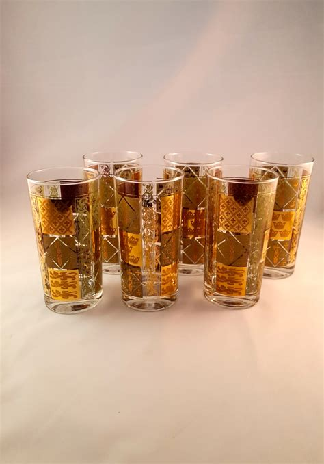 unique gold bar glasses vintage barware