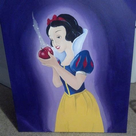painting snow white snow white painting by ahnahstazia on deviantart