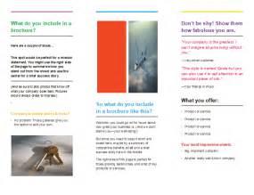 Two Fold Brochure Template Word by Brochure Template Microsoft Word Tri Fold Italiacasino