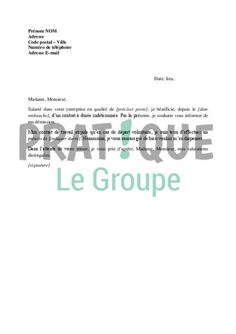 Exemple De Lettre De Démission Amiable Lettre De D 233 Mission Type Sans Pr 233 Avis Mod 232 Le De Lettre