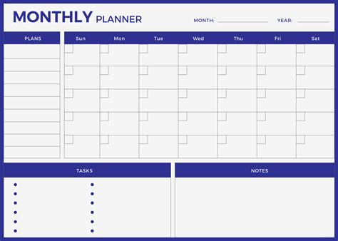 Free Monthly Planner Template In Adobe Photoshop Adobe Illustrator Adobe Indesign Template Net Monthly Planner Template