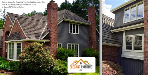 gray colors    red brick brick house exterior