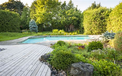 Amenagement Jardin Paysager by Am 233 Nagement Jardin Paysager Autour D Une Piscine 40 Id 233 Es