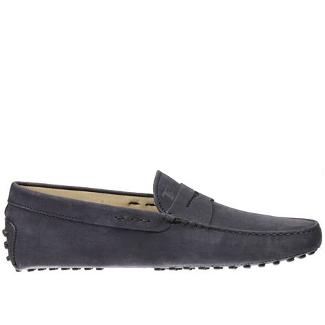 tods loafer tod s s loafers in black for blue lyst