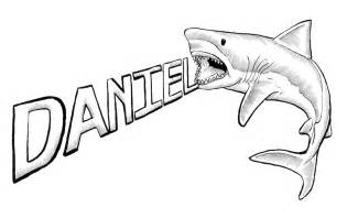 Sharks Drawings Great White Shark sketch template