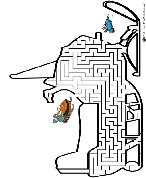 printable winter maze free coloring pages of snowmobile