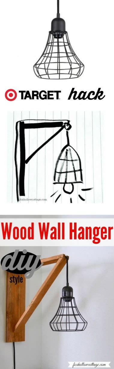 target hack target hack diy an industrial cage light wall hanger