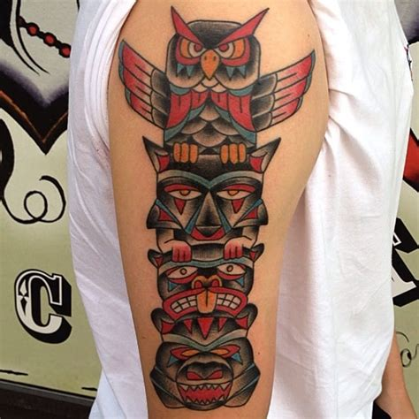 totem pole tattoo 10 spiritual totem pole tattoos tattoodo
