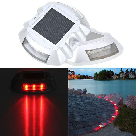 light up driveway markers 6 pack solar led pathway driveway light dock path