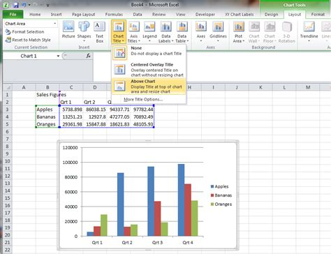 how to add titles to charts in excel 2016 2010 in a minute how to add a chart title in excel 2007 how to add titles