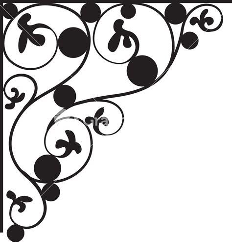 corner pattern vector cdr floral corner vector element stock image