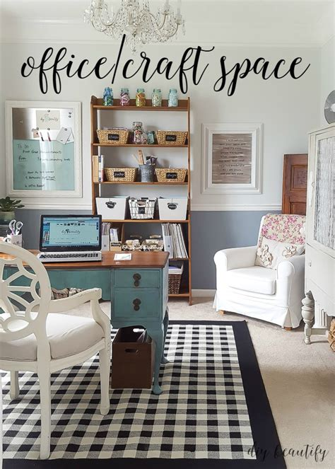 office dining room office and craft space reveal diy beautify