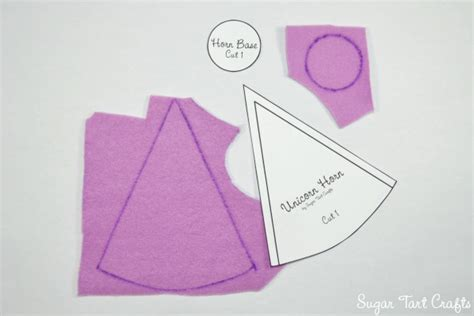 How To Make A Unicorn Horn Out Of Paper - sugar tart crafts my pony costume sew along day