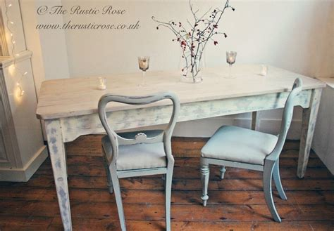 whitewashed pine farmhouse table with grey shabby chic