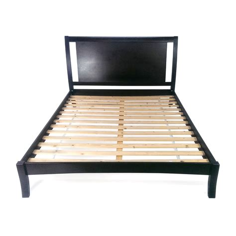 bed headboard and frame 44 off king size taupe cloth bed frame beds