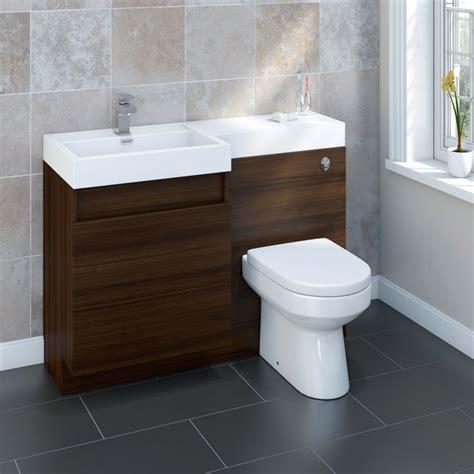 Left Side Sink Bathroom Vanity Sp Ashdown Walnut Vanity Unit 1200mm Stax Trade Centres