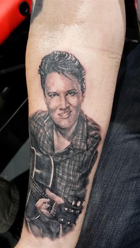 elvis presley tattoos elvis by justyna kurzelowska