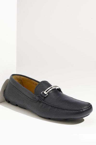 prada driving shoes prada driving shoe in blue for lyst