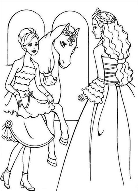 barbie horse horse coloring pages  coloring pages
