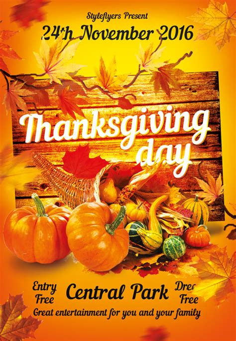 printable thanksgiving flyer templates pictures to pin on