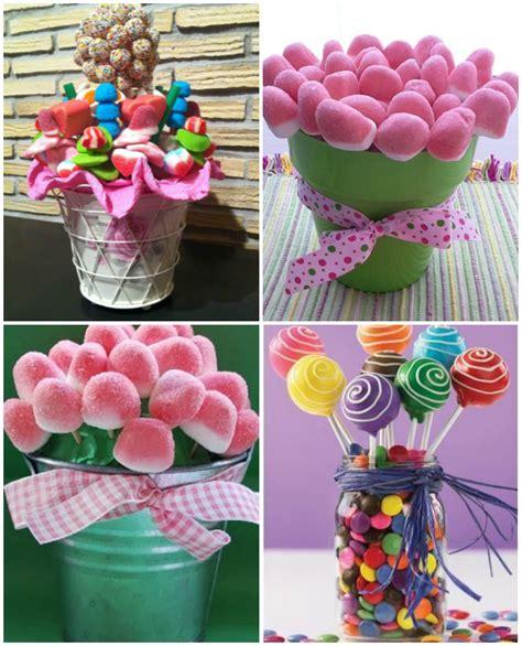 decoracion con chuches para comuniones macetas de chuches1000 detalles 1000 ideas