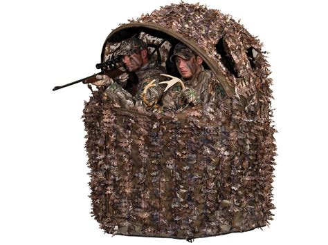 ameristep chairblind combo ameristep deluxe 3d leafy 2 chair ground blind mpn