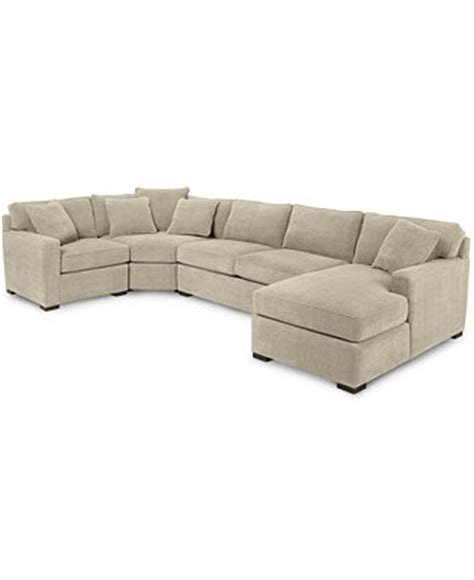 radley 4 fabric chaise sectional sofa furniture
