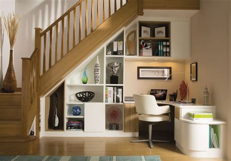 stylish understairs study transitional home office