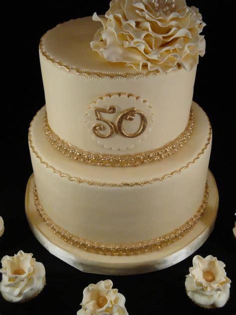 cream  gold  wedding anniversary cake wedding  celebration cakes pinterest