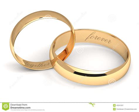 Wedding Rings Together by Wedding Rings On White Stock Illustration Image 43241037