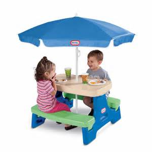 Little Tikes Garden Bench Little Tikes Easy Store Jr Picnic Table With Umbrella