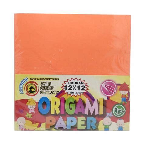Kertas Origami Asturo 20x20 Isi 50 Lembar jual asturo origami paper kertas warna 12 x 12 cm 50 lembar harga kualitas terjamin