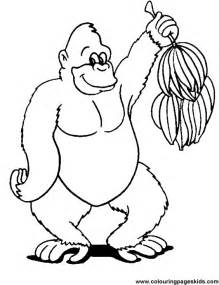 gorilla coloring pages free printable gorilla with banana39s coloring page for
