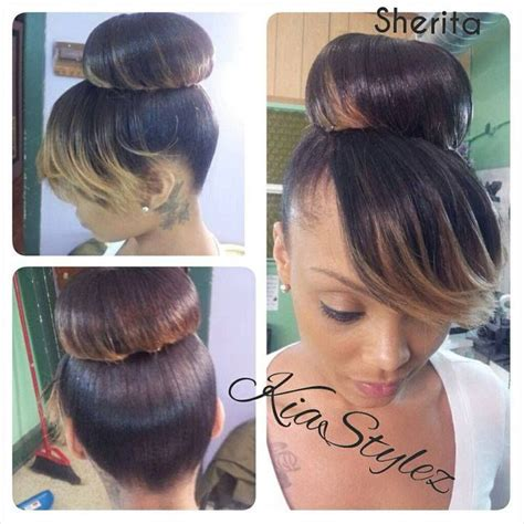 updoswith swoopsblack 1000 images about bun it bang it on pinterest top bun