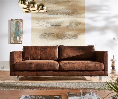 sofa braun delife sofa baracca braun 220x95 antik optik otto