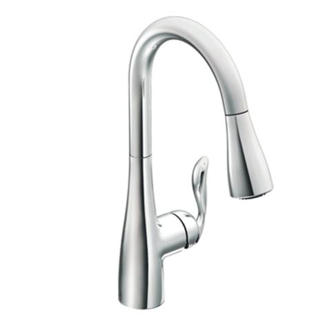 Chrome Kitchen Faucet Moen 7594c Arbor One Handle High Arc Pulldown Kitchen Faucet Chrome Home Improvement