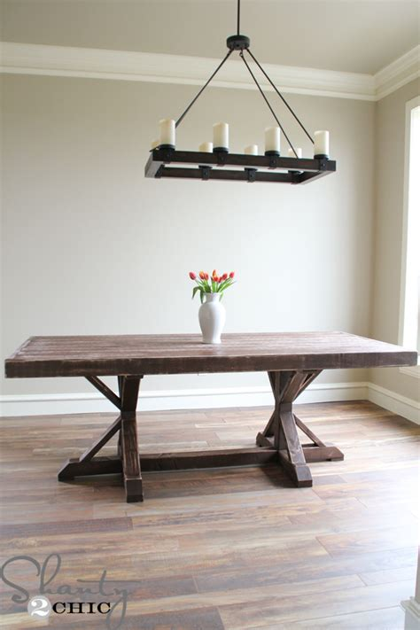 build wooden restoration hardware dining table plans plans