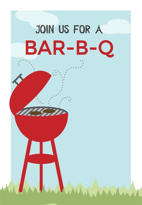 Bbq Cookout Free Printable Bbq Party Invitation Template Greetings Island Summer Fun Summer Bbq Invite Template