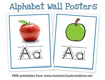 free printable alphabet poster cursive abc flashcards and posters free printables