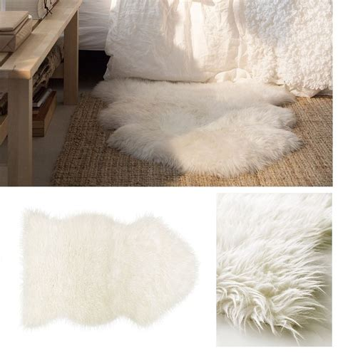 Faux Sheepskin Rug Ikea ikea tejn faux sheepskin rug soft warm cozy could be draped a chair ebay