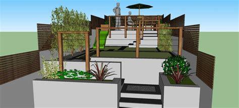 Landscape Design Using Sketchup Garden Design Created Using Sketchup For Terraced