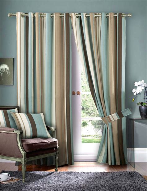 new pleated top border curtains faux silk fully lined luxury striped faux silk curtains ready made eyelet ring