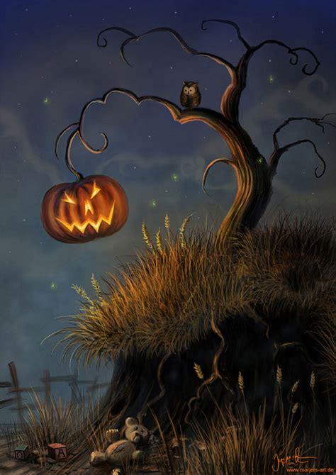 halloween themed art 20 superb exles of halloween themed digital art psdfan