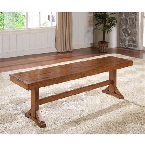 bench walker walker edison wood dining bench antique brown dbw1ab