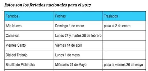 feriados ecuador 2016 calendario de feriados en ecuador 2017 guayaquil rent a