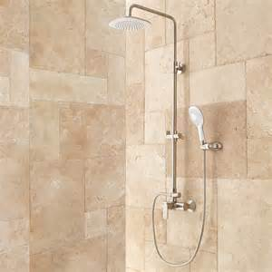 bathroom shower pipe wall shower set with exposed riser bathroom